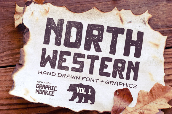 North Western Font Vectors Vol 1