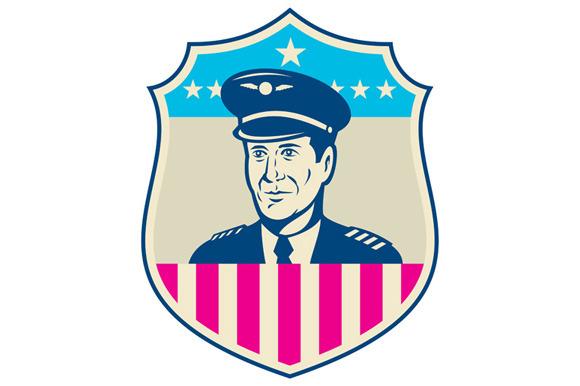 American Airline Pilot Aviator USA F