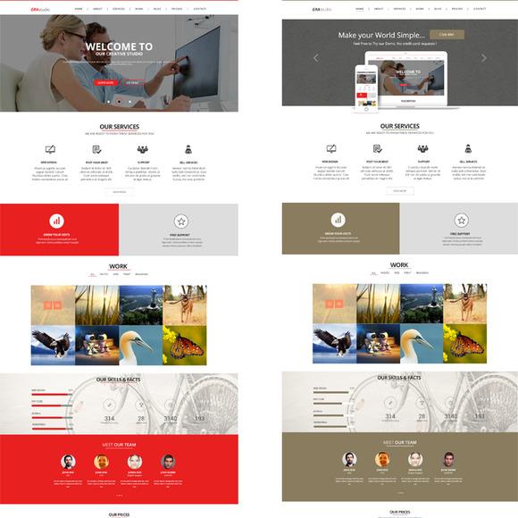 GraStudio Onepage PSD Template