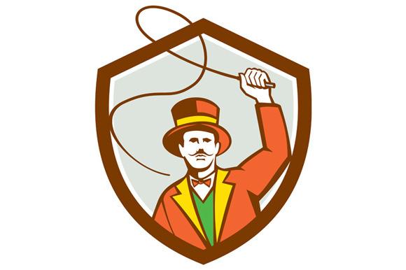 Circus Ring Master Bullwhip Shield R