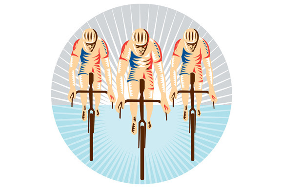 Cyclist Riding Bicycle Cycling Circl