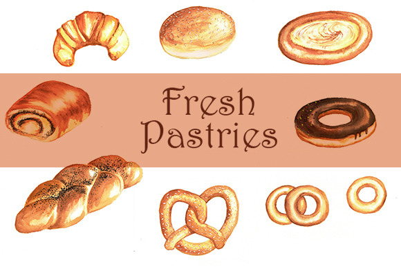 Watercolor Pastries