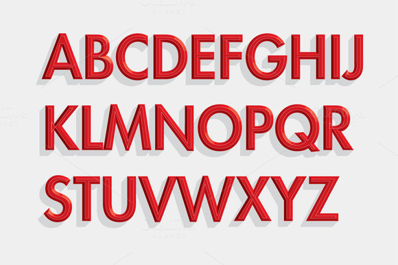 3D Font Typeface