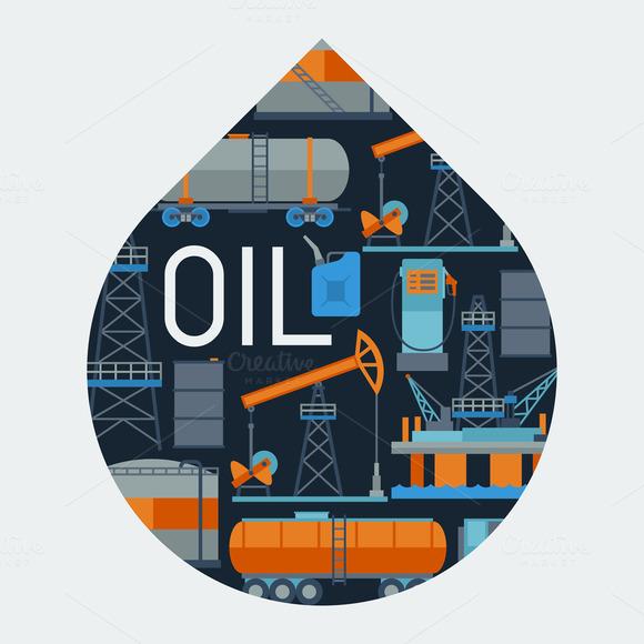 Oil Industrial Backgrounds Design