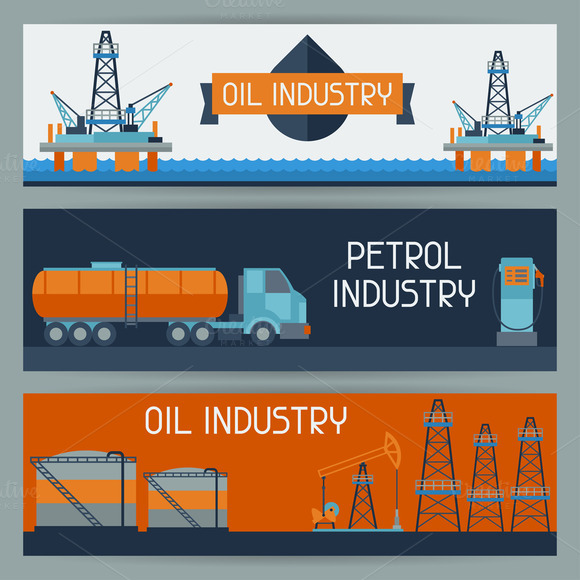 Oil Industrial Banners Design