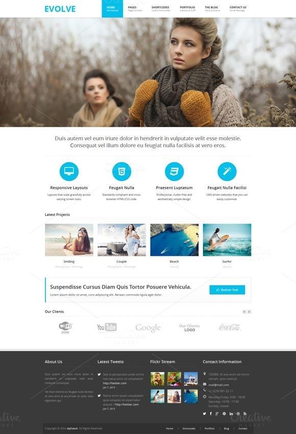 EVOLVE Responsive HTML Template