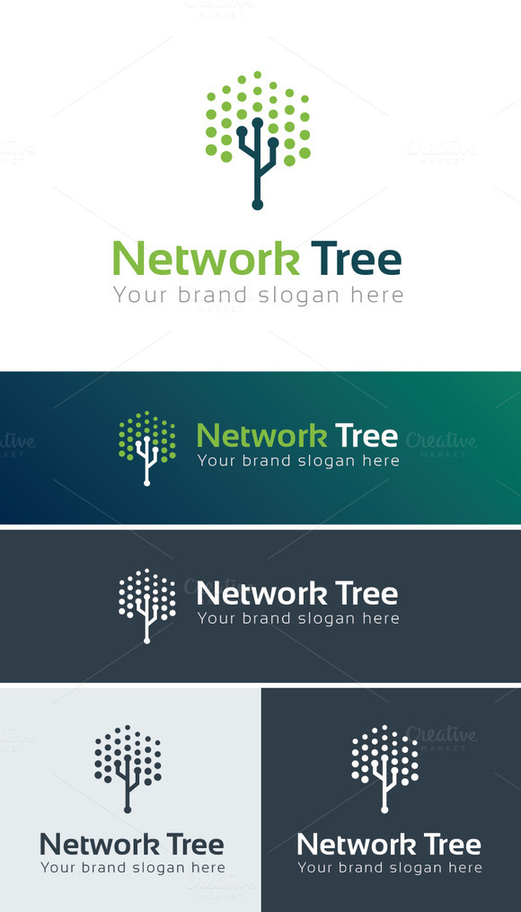 Network Tree Logo Template