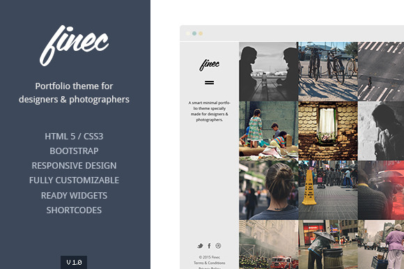 Finec Theme For Designers Artists
