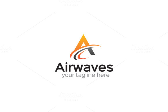 Airwaves A Letter Logo