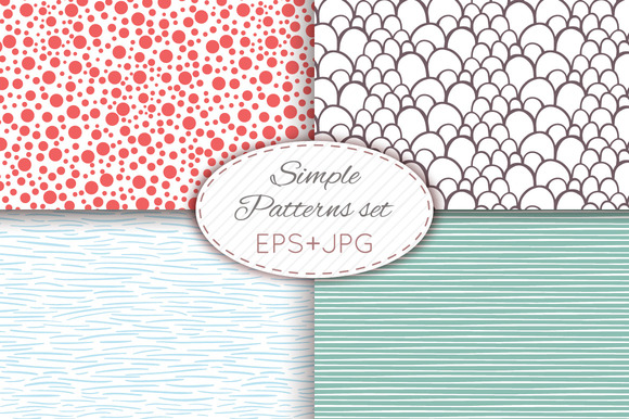 28 Simple Seamless Patterns