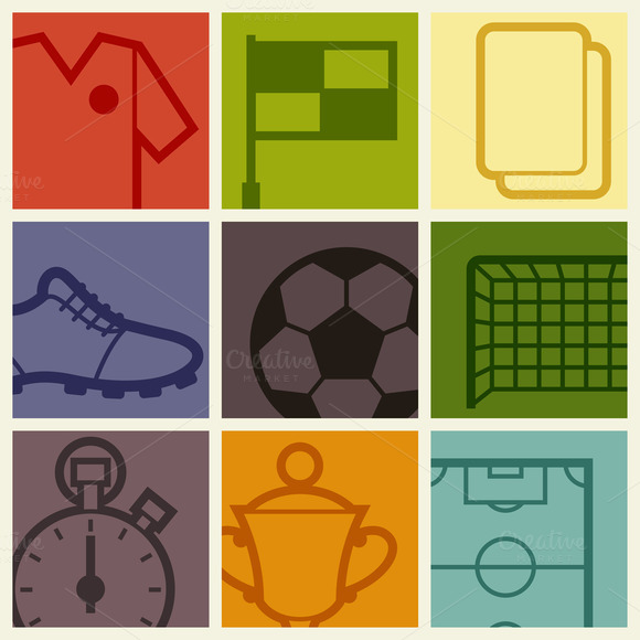 Backgrounds With Soccer Symbols