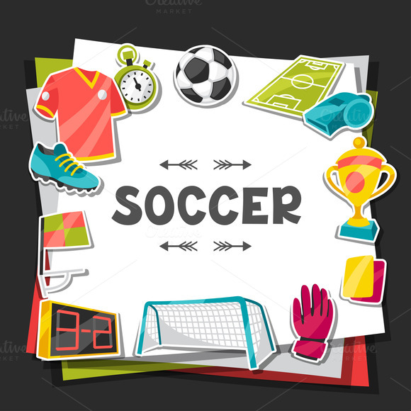 Backgrounds With Soccer Stickers