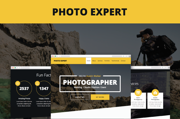 Photo Expert Adobe Muse Template