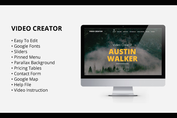 Video Creator Adobe Muse Template