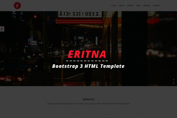 Eritna Agency Portfolio Template