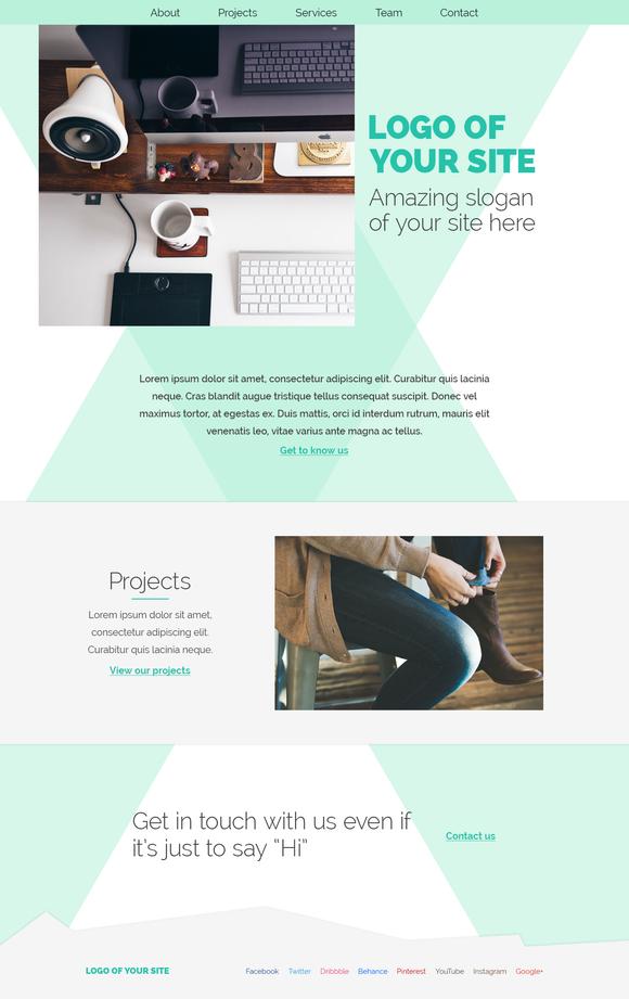 Portfolio Agency Psd Site Template