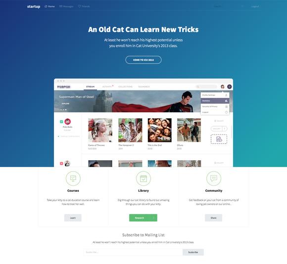 StartUp Landing Page Tempalte