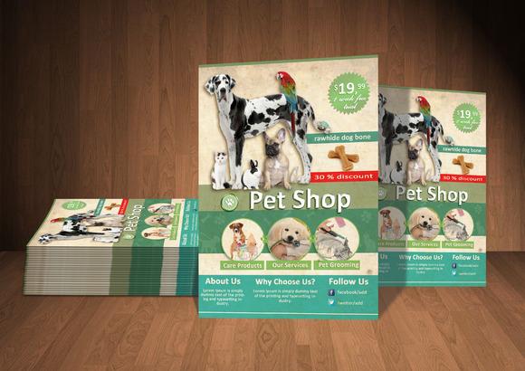 Pet Shop PSD Flyer