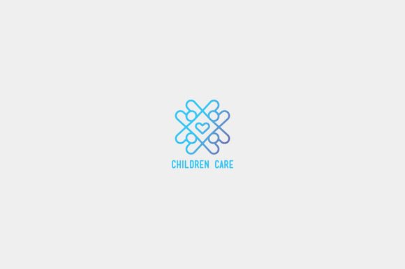 Children Care Logo Template