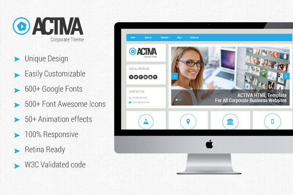 ACTIVA-Creative HTML Template