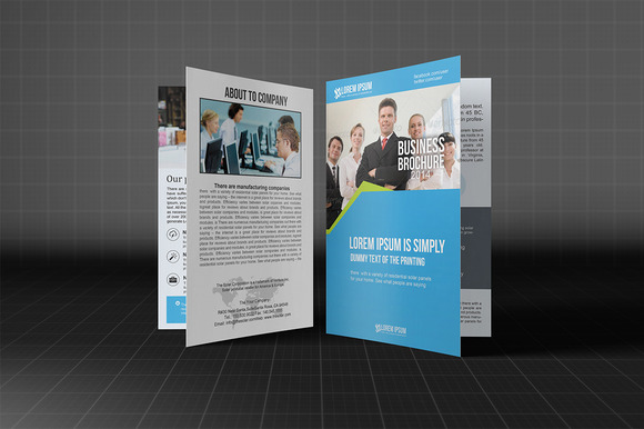 Business Brochure Bifold Template