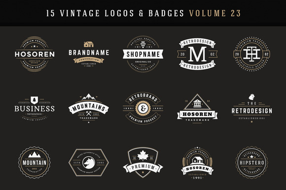 20% Off 15 Retro Vintage Logotypes