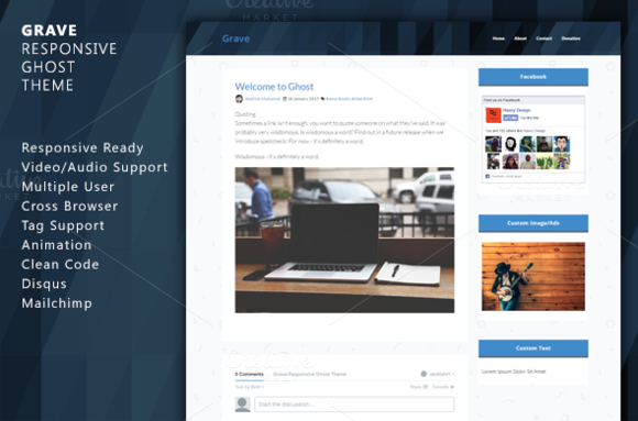 Grave Responsive Ghost Theme