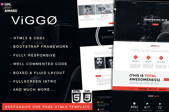 VIGGO One Page HTML5 Template