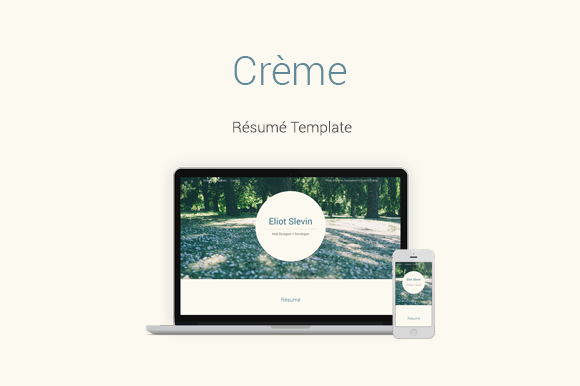 Creme Responsive Resume Template