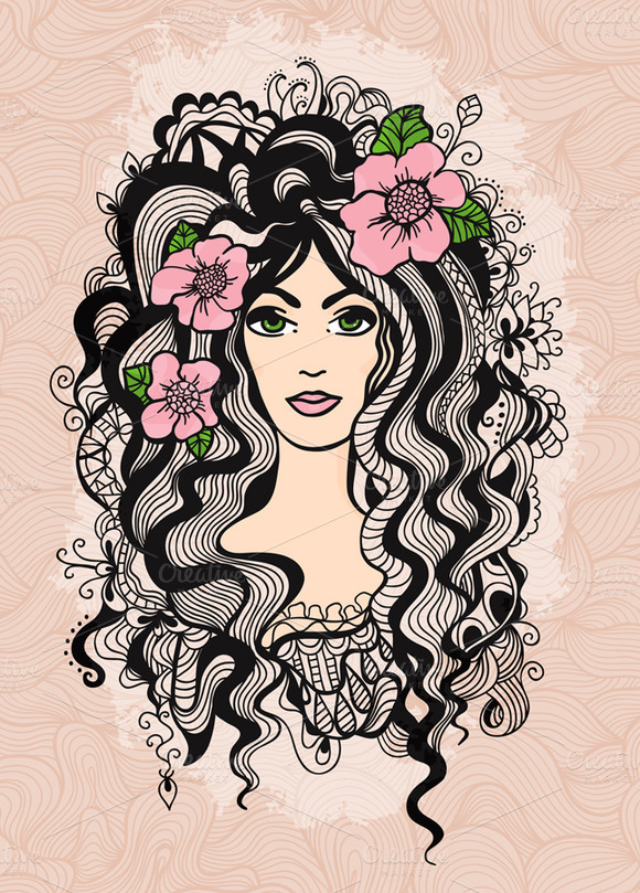 Beautiful Girl Vector Illustration