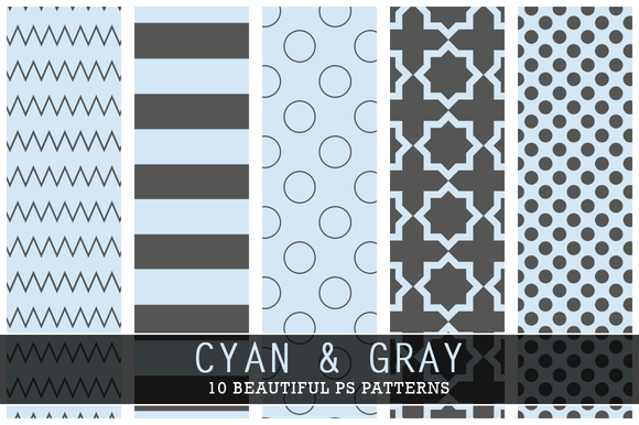 Cyan And Gray