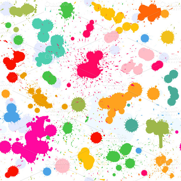 Watercolor Vector Pattern