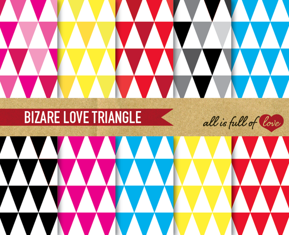 Triangles Digital Pattern Kit Print