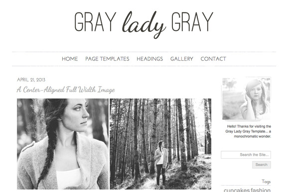 Gray Lady Gray Responsive WordPress