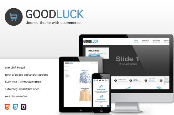 GoodLuck Ecommerce Joomla Theme