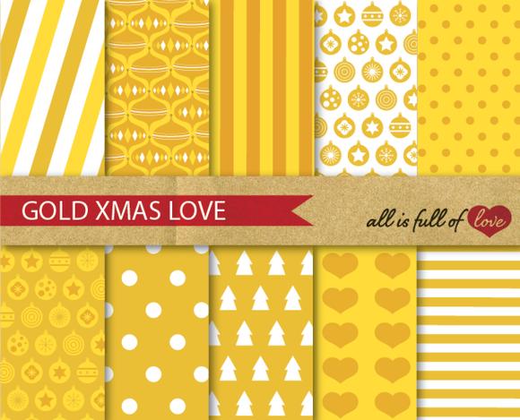 Golden Yellow Digital Background Kit