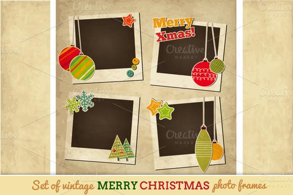 Vintage Christmas Photo Frames