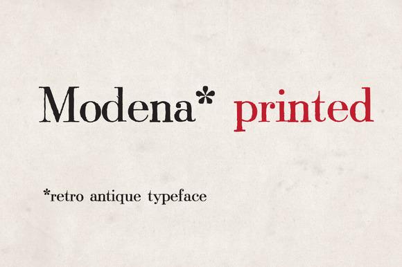 Modena Printed
