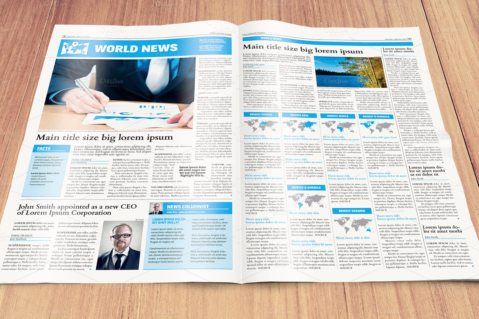 Free Newspaper Template 5621674 Hitori49fo