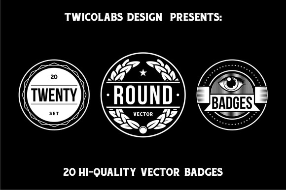 20 Round Badges