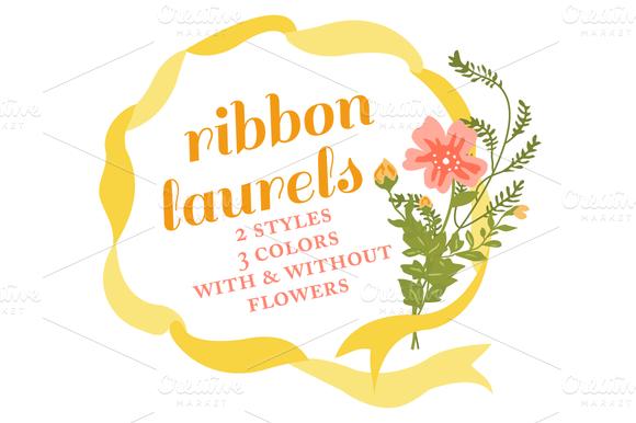 Ribbon Wreaths Floral Laurels