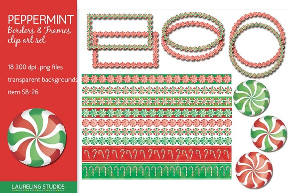 Peppermint Clipart Borders Frames