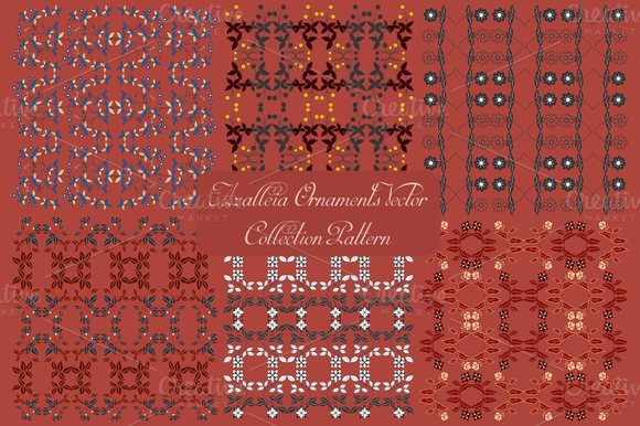 Azalleia Ornaments Vector Pattern