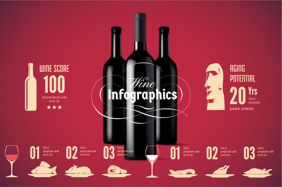 Wine Infographics Icons Set