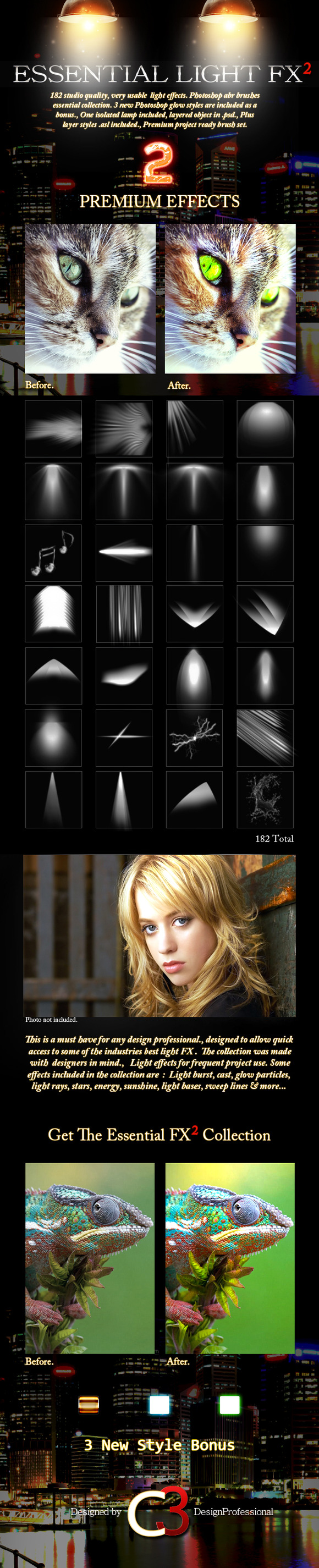 182 Essential Light Fx 2 Brushes
