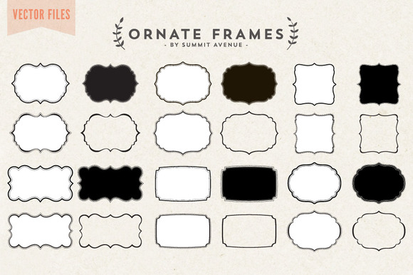 Vector Ornate Decorative Frames