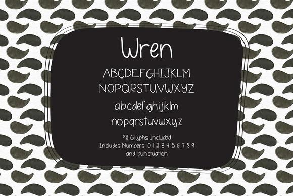 Wren Hand Lettered Font