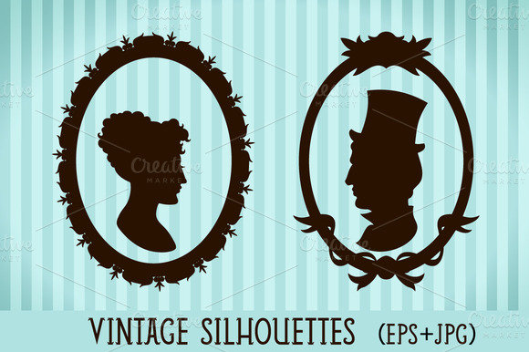 Vintage Style Silhouettes