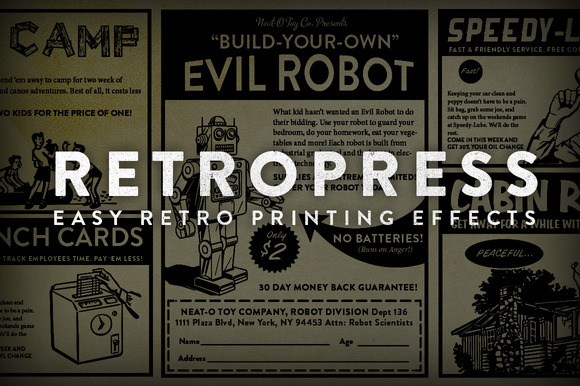RetroPress Photoshop Actions