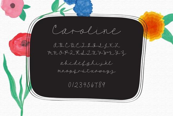 Caroline A Script Font